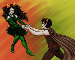 Homestuck: Dance Me to the End of Love ~THREEDUX~ by NancyStageRat