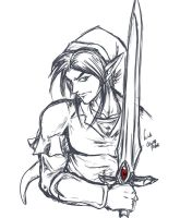 Zeldanime Link sketch by crazyfreak