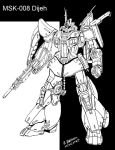 MSK-008 DIjeh Line Art by archaznable30