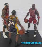MJ LBJ And Kobe Custom Figures by guyman80