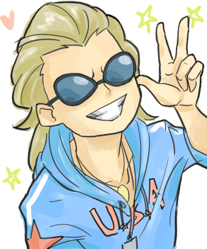 Too cool for eyebrows by romeokuro