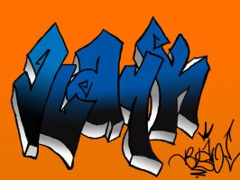 2nd PS graff by MFBlank