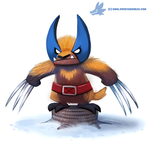 Daily Paint #1166. Wolverine by Cryptid-Creations