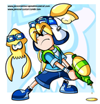 Commission - Aozora Inkling by JamesmanTheRegenold
