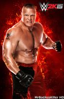 Brock Lesnar WWE 2'k15 Cover by Fabian-Winchester