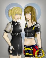 female roxas and sora by Stalaxy
