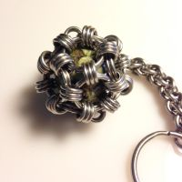 Steel and Rhyolite Keychain by chef-chad