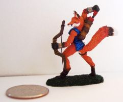 Fox Archer Painted Miniature 2 by beckyg