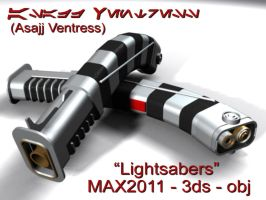 Asajj Ventress's Lightsabers by darthziggy