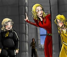 Cersei and kids - Hide n Seek by rabbitzoro