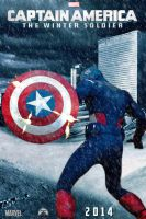 Captain America: The Winter Soldier movie poster by DComp