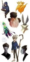 Rise of the Guardians sketchdump by aerettberg