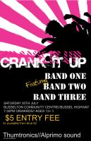 Crank It Up - Poster gig 2 by ximmer