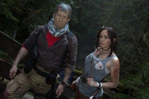 Tomb Raider: Lara Croft and Conrad Roth by Kenshiro-FDP