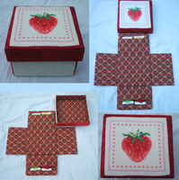 Strawberry sewing box by Magical525