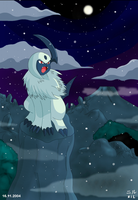 Lonely Winter for Absol by pokesafari