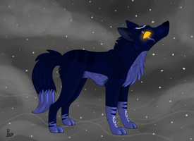 Wolf Request for Space-Pikachu by Elana-Louise