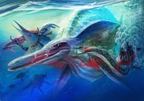 Triassic Period art by redcode77