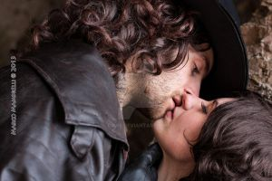 Van Helsing and Anna Valerious cosplay - Kiss by ilPas