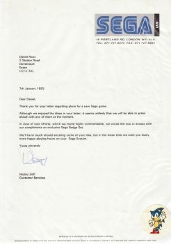 My Letter To Sega by Rootay