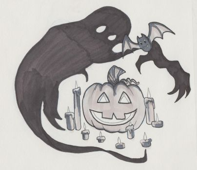 Pumpkin and Shadow by SilverSnake19