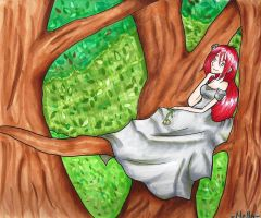 Sitting in a Tree in a Forest by Raspberl