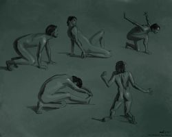 Figure Drawings, 2014-05-14 by zacharyknoles