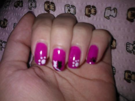 Kitty nails by Tigrite