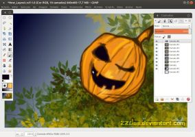 New GIMP layout (downloadable theme) by ZZDas