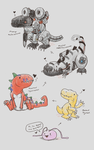 Digimon- Murmur Doodles by Chari-Artist
