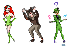 Rogues: Ivy, Scarecrow, Riddler by L-word