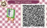 Animal Crossing New Leaf: Wings of Freedom QR Code by TofaTheDragonRider