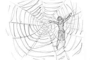 trapped in cobweb by Sarippus