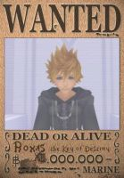 Roxas, XIII, Wanted Poster by SoraKing