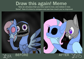 Before and After: Dreamy's Endoskeleton by MadixSpringtrap