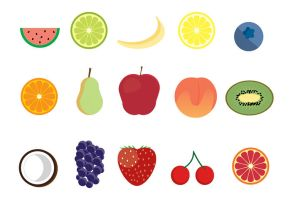 15 Free Fruit Icons by freebiespsd