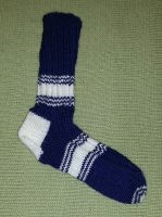 Ugly Scrap Socks - In the Navy by KnitLizzy