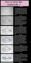 How to draw lips realistically by DreamControl371