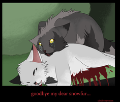 Snowfur's Death by skytailskitty