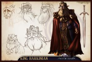 Concept Sheet - King Harkinian by lord-phillock