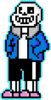 Sans (pixel art and GIF!) by TheTigressFlavy