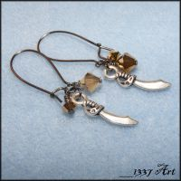 Pirate Treasure Earrings by 1337-Art