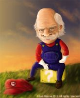 Old mario by lepeART