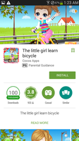 The little girl learn bicycle by dev-catscratch