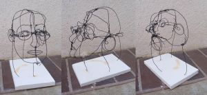 self portrait in wire by tigrin