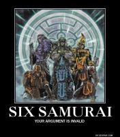 Six Samurai Your Argument is Invalid by Meowmeowmeow21