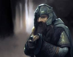 Gimli in the Forest by ZhioN360