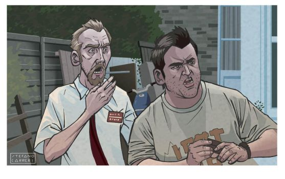 Shaun of the Dead by SteCarreri