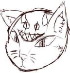 Sketch: Demon Cat by FnKDeadbeat