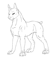 Free Dog line-art by wolfpup166